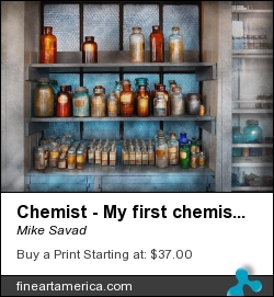 Chemist - My First Chemistry Set by Mike Savad - Photograph - Hdr Photography