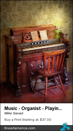 Music - Organist - Playing The Songs Of The Gospel by Mike Savad - Photograph - Hdr Photography