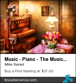 Music - Piano - The Music Room by Mike Savad - Photograph - Hdr Photography