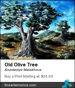 Old Olive Tree by Anastasiya Malakhova - acrylic on canvas