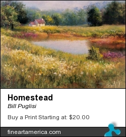 Homestead by Bill Puglisi - Pastel - Pastel On Wallis Sanded Paper