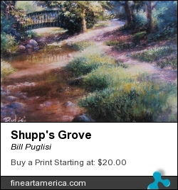 Shupp's Grove by Bill Puglisi - Pastel - Pastel On Wallis Sanded Paper