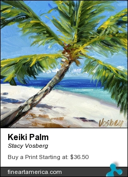 Keiki Palm by Stacy Vosberg - Painting - Oil On Panel