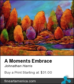 A Moments Embrace by Johnathan Harris - Painting - Acrylic On Canvas