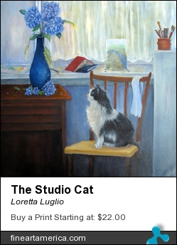 The Studio Cat by Loretta Luglio - Painting - Oil On Canvas