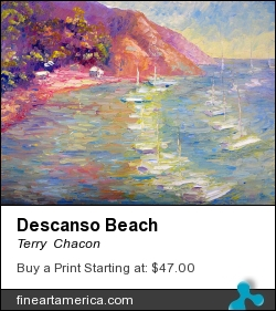 Descanso Beach by Terry  Chacon - Painting - Oil On Canvas