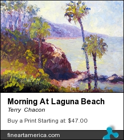 Morning At Laguna Beach by Terry  Chacon - Painting - Oil On Canvas