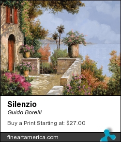 Silenzio by Guido Borelli - Painting - Oil On Canvas