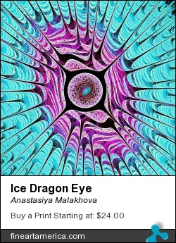 Ice Dragon Eye by Anastasiya Malakhova - fractal art