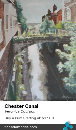 Chester Canal by Veronica Coulston - Painting - Acrylic On Canvas