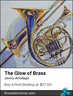The Glow Of Brass by Jenny Armitage - Painting - Transparent Watercolor On Paper