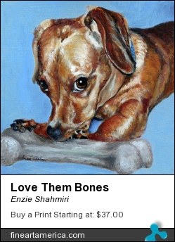 Love Them Bones by Enzie Shahmiri - Painting - Oil On Panel