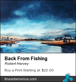 Back From Fishing by Robert Harvey - Painting - Oil On Canvas