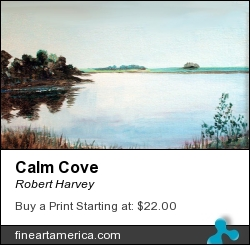 Calm Cove by Robert Harvey - Painting - Oil On Plywood