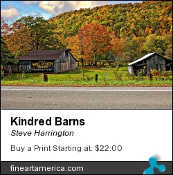 Kindred Barns by Steve Harrington - Photograph - Photograph