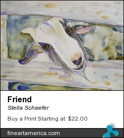Friend by Stella Schaefer - Painting - Watercolor