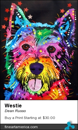 Westie by Dean Russo - Painting - Fine Art Print