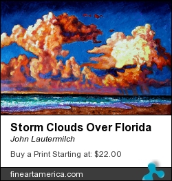 Storm Clouds Over Florida by John Lautermilch - Painting - Oil On Canvas
