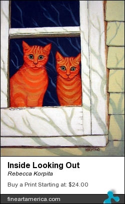 Inside Looking Out by Rebecca Korpita - Painting - Acrylic