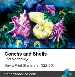 Conchs And Shells by Lori Nadaskay - Painting - Acrylic On Canvas
