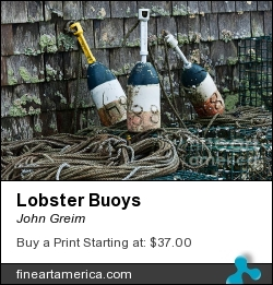 Lobster Buoys by John Greim - Photograph - Photography