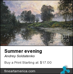 Summer Evening by Andrey Soldatenko - Painting - Oil Canvas
