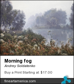 Morning Fog by Andrey Soldatenko - Painting - Oil Canvas