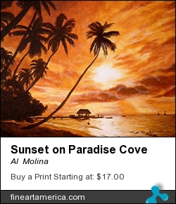 Sunset On Paradise Cove by Al  Molina - Painting - Acrylic On Canvas