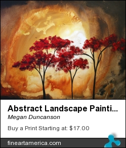 Abstract Landscape Painting Empty Nest 2 By Madart by Megan Duncanson - Painting - Acrylic On Canvas