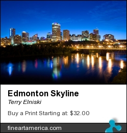 Edmonton Skyline by Terry Elniski - Photograph - Photography