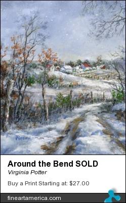 Around The Bend Sold by Virginia Potter - Painting - Acrylic On Canvas