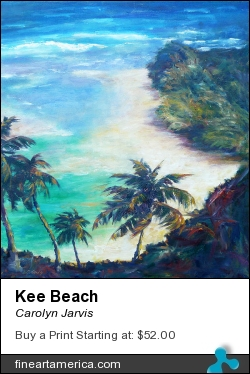 Kee Beach by Carolyn Jarvis - Painting - Oil On Canvas