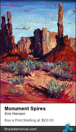 Monument Spires by Erin Hanson - Painting - Oil On Canvas