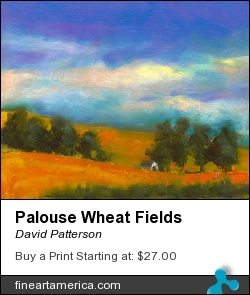 Palouse Wheat Fields by David Patterson - Painting - Soft Pastel Painting