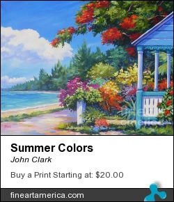 Summer Colors by John Clark - Painting - Acrylic On Canvas
