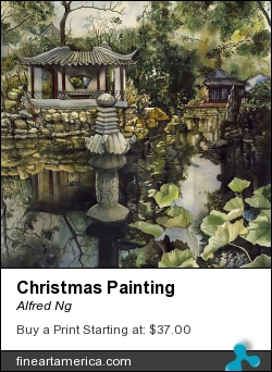 Christmas Painting by Alfred Ng - Painting - Watercolour On Paper