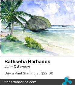 Bathseba Barbados by John D Benson - Painting - Watercolor