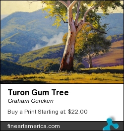 Turon Gum Tree by Graham Gercken - Painting - Oil On Canvas