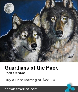 Guardians Of The Pack by Tom Carlton - Painting - Acrylic Paint
