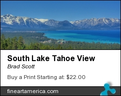 South Lake Tahoe View by Brad Scott - Photograph - Photography