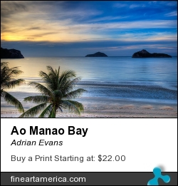 Ao Manao Bay by Adrian Evans - Photograph
