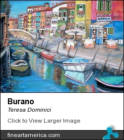 Burano by Teresa Dominici - Painting - Acrylic On Canvas