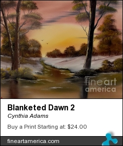 Blanketed Dawn 2 by Cynthia Adams - Painting - Oil On Canvas
