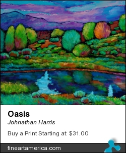 Oasis by Johnathan Harris - Painting - Giclee Print From Original Acrylic Painting