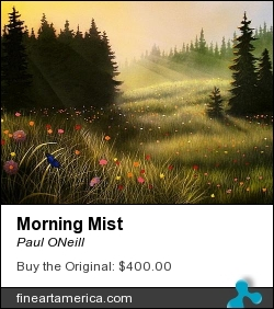 Morning Mist by Paul ONeill - Painting - Acryic On Canvas
