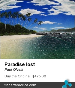 Paradise Lost by Paul ONeill - Painting - Acryic On Canvas