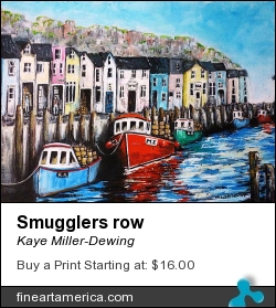 Smugglers Row by Kaye Miller-Dewing - Painting - Acrylic