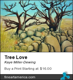 Tree Love by Kaye Miller-Dewing - Painting - Gouache