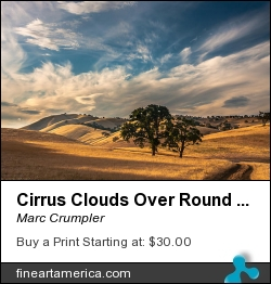 Cirrus Clouds Over Round Valley by Marc Crumpler - Photograph
