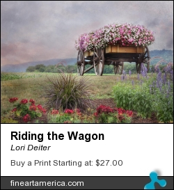 Riding The Wagon by Lori Deiter - Photograph - Photography